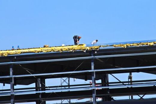 Commercial roof specialists.